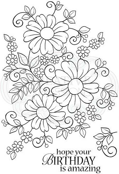 SO: Woodware Clear Singles Bold Blooms - Caroline