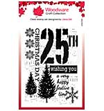 Woodware Clear Singles Music for Christmas 4 in x 6 in Stamp