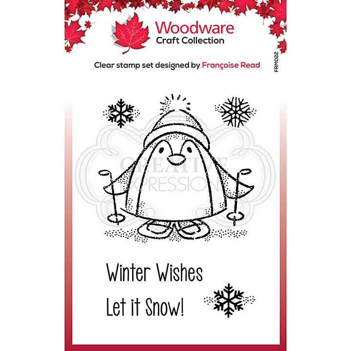 Woodware Clear Singles Peter Penguin Stamp