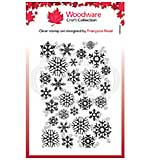 Woodware Clear Singles Snowflake Flurry Stamp