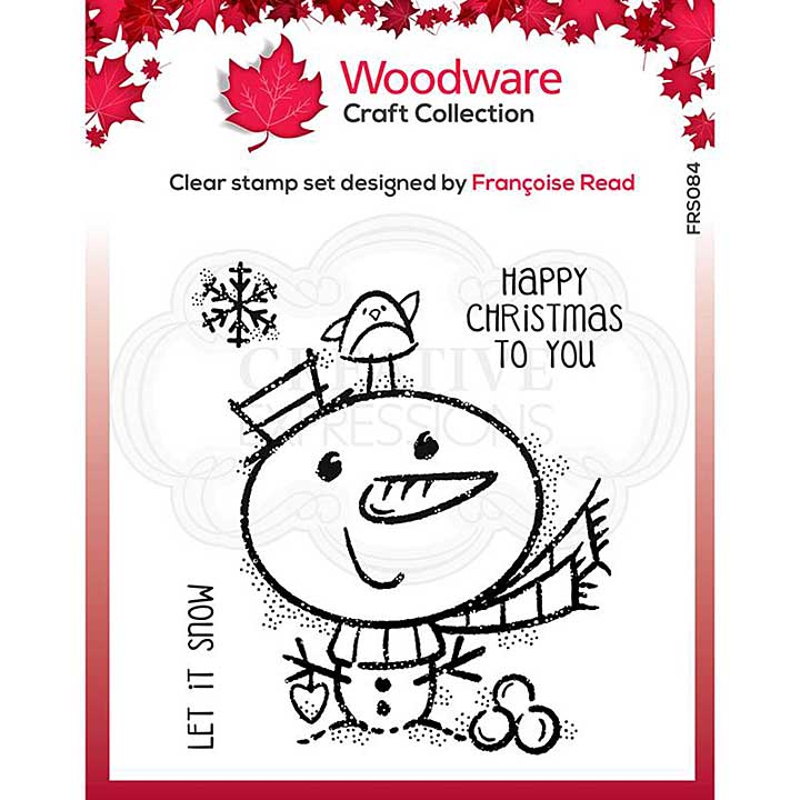 Woodware Clear Singles Little Snowman Stamp