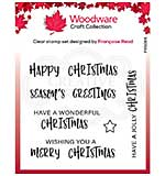 Woodware Clear Singles Useful Christmas Stamp