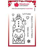 Woodware Clear Singles Snow Gnome Stamp