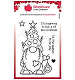 Woodware Clear Singles Christmas Tree Gnome Stamp