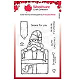 Woodware Clear Singles Gnome Gift Stamp
