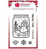 Woodware Clear Singles Snow Jar Stamp