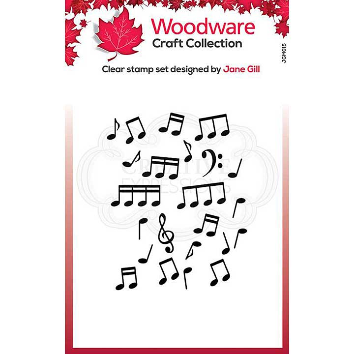 SO: Woodware Clear Singles Mini Music Background Stamp (3.8 x 2.6)