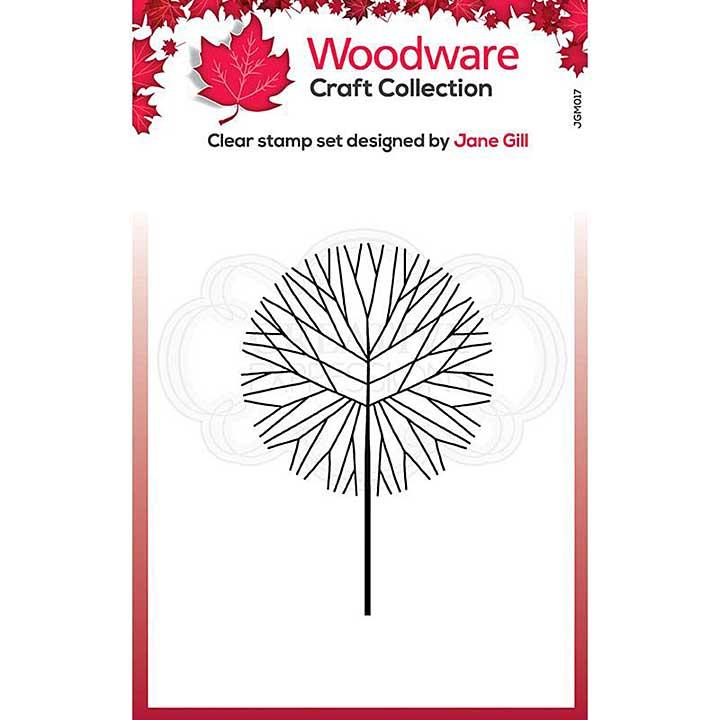 Woodware Clear Singles Mini Round Twiggy Tree Stamp (3.8 x 2.6)