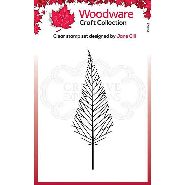 Woodware Clear Singles Mini Tall Twiggy Tree Stamp (3.8 x 2.6)
