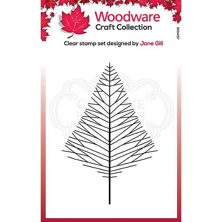 SO: Woodware Clear Singles Mini Wide Twiggy Tree Stamp (3.8 x 2.6)