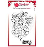Woodware Clear Singles Bubble Bauble and Bow Stamp (4 x 6)
