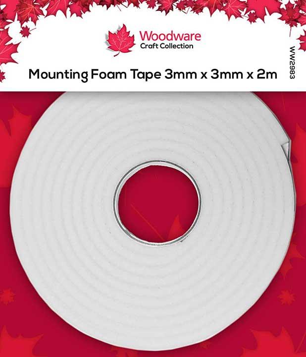 Woodware Mounting Foam Tape 3mm x 3mm x 2m