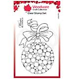 Woodware Clear Singles Bubble Bauble and Ribbon Stamp (4 x 6)