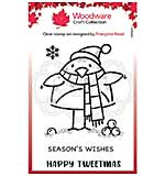 Woodware Clear Singles Tweetmas Robin 3.8 in x 2.6 in Stamp
