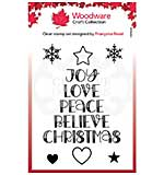 Woodware Clear Singles Word Tree 3.8 in x 2.6 in Stamp