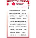 Woodware Clear Singles Christmas Strips 4 in x 6 in Stamp