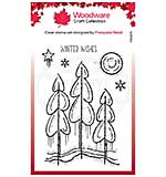 Woodware Clear Singles Winter Trees 4 in x 6 in Stamp