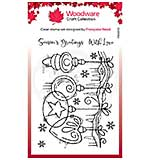 Woodware Clear Singles Frosted Baubles 4 in x 6 in Stamp