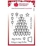 Woodware Clear Singles Heart Tree 4 in x 6 in Stamp