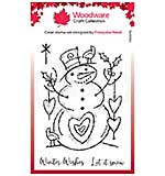 Woodware Clear Singles Loving Snowman 4 in x 6 in Stamp