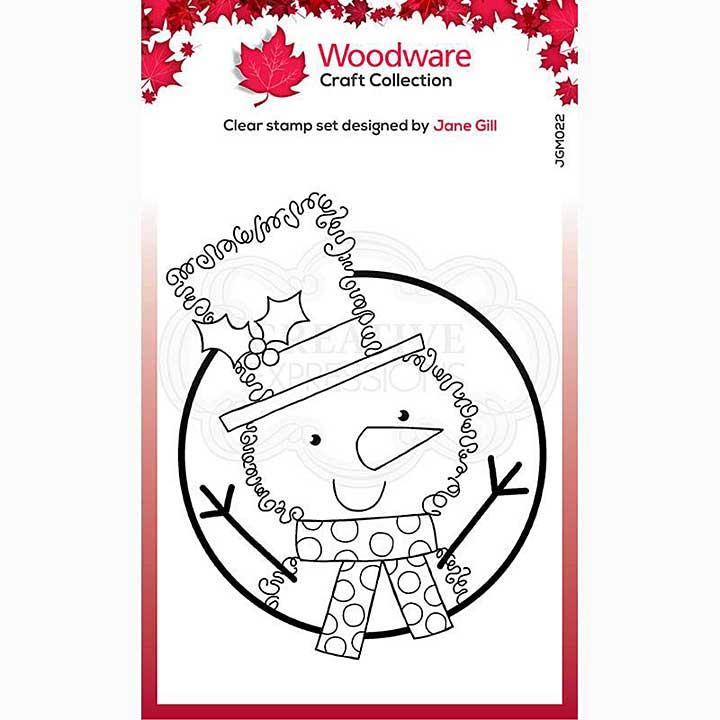 Woodware Clear Singles Festive Fuzzies . Mini Snowman 3.8 in x 2.6 in Stamp