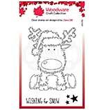 Woodware Clear Singles Festive Fuzzies . Reindeer 4 in x 6 in Stamp