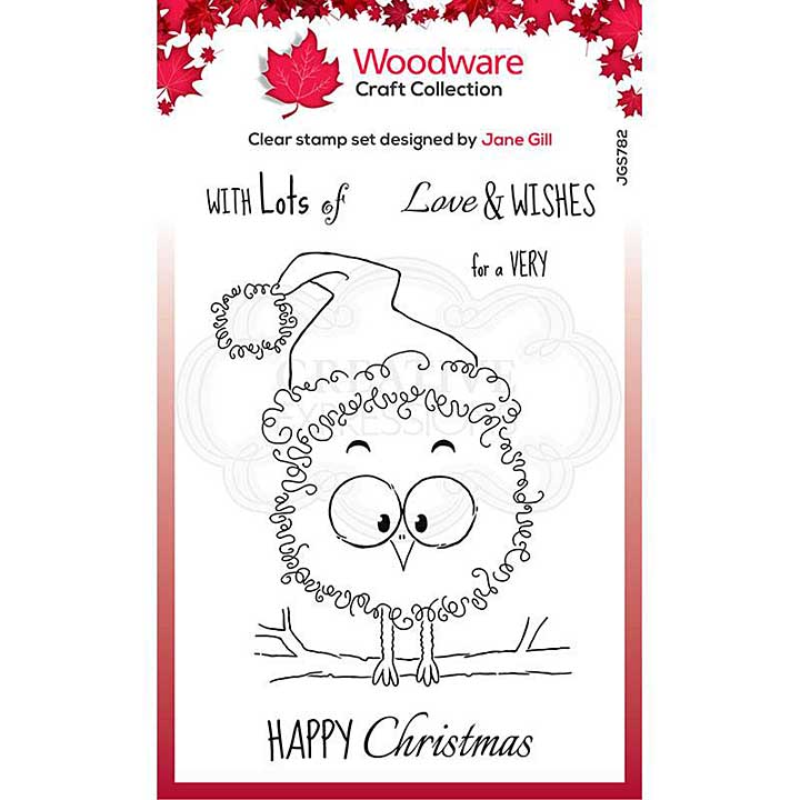 Woodware Clear Singles Festive Fuzzies . Robin 4 in x 6 in Stamp