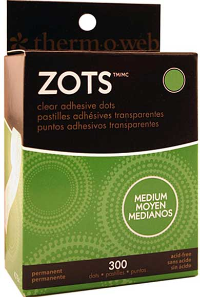 Zots Memory - Clear Adhesive Dots - Medium (300pk)