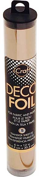 Deco Foil 6x12 5pk - Rose Gold