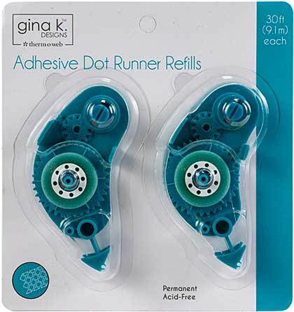 Gina K Designs Adhesive Dot Runner Refill - Permanent (30ft, 2pk)