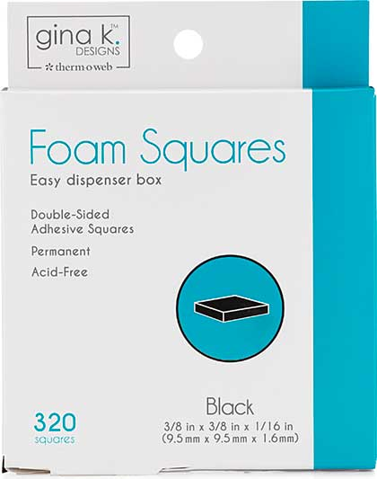 Gina K Designs Foam Squares - Black (320pcs)