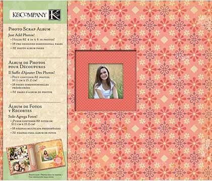 K and Company - Handmade - Perfect Bound Photo Scrap Album 8.75x10.5