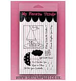 MFT Clear Stamp Set - Rain or Shine