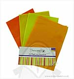 SO: Dovecraft A4 Felt Multipack - Oranges and Yellows