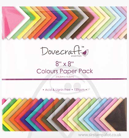 SO: Dovecraft Essentials 8x8 Colours Paper Pack
