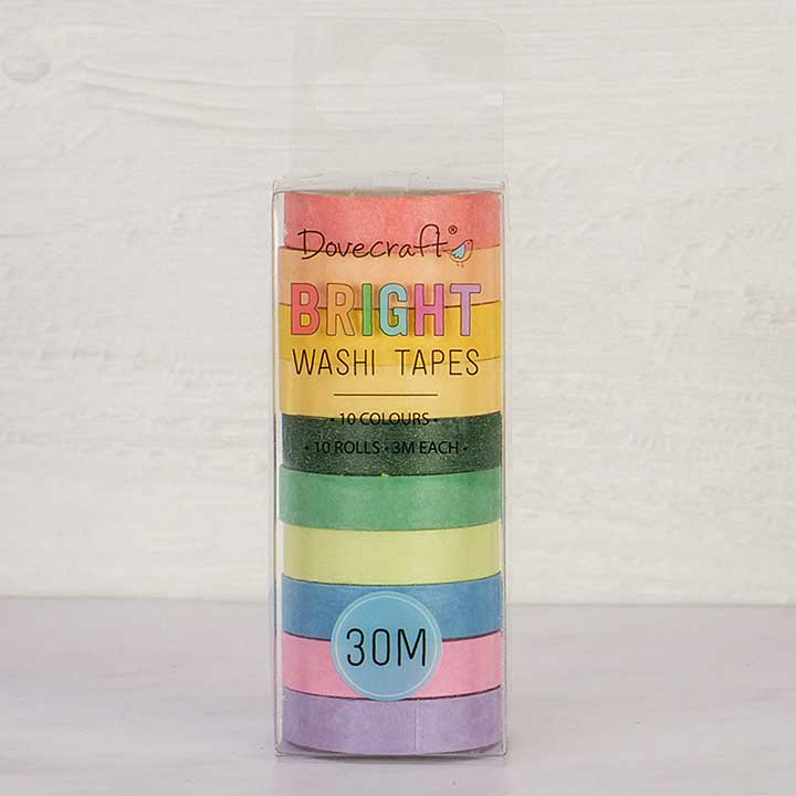 SO: Dovecraft Washi-Tape Set - Brights (10pcs)