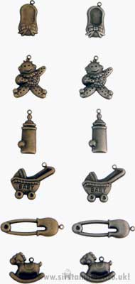 SO: Scrapbook Basics Antique Charms - Baby