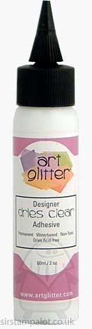 Art Glitter Glue Dries Clear Adhesive 60ml 2oz