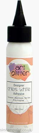 Art Glitter Glue Dries White Adhesive 60ml 2oz