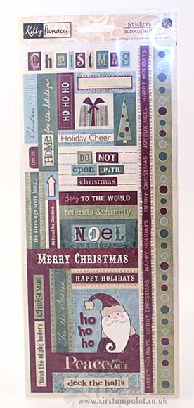 Stickers - Christmas Holiday and Words