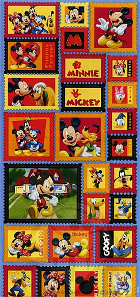 SO: Stickers - Mickey Postage Stamps