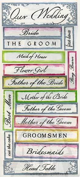 Stickers - Wedding Words