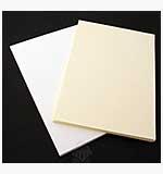 Watercolour Card (A5 White and Cream)