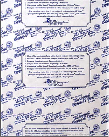 SO: EZ Mount THIN Cling Sheet for Unmounted Rubber Stamps