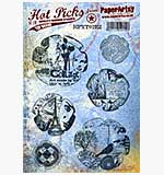 SO: Paper Artsy Stamp set - Hot Picks Xtra 02 - Grunge Flowers 1 2 3