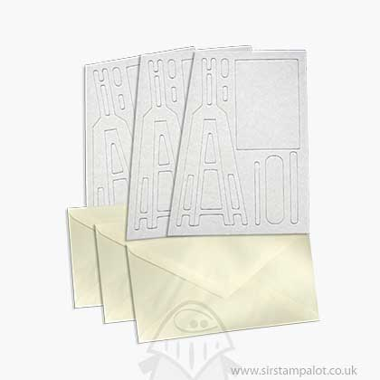 Pinflair - Novelty Easel Cards w/Envelopes - White (3 pcs)