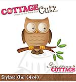 Cottage Cutz - 4x4 Cutting Die - Stylized Owl