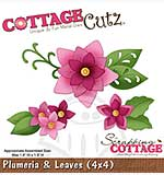 Cottage Cutz - 4x4 Cutting Die - Plumeria and Leaves