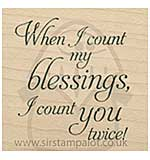 Inky Antics - Wood Stamp - Count My Blessings