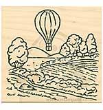 Inky Antics - Wood Stamp - Balloon Flight